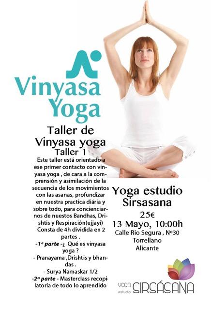 taller vinyasa yoga 1º