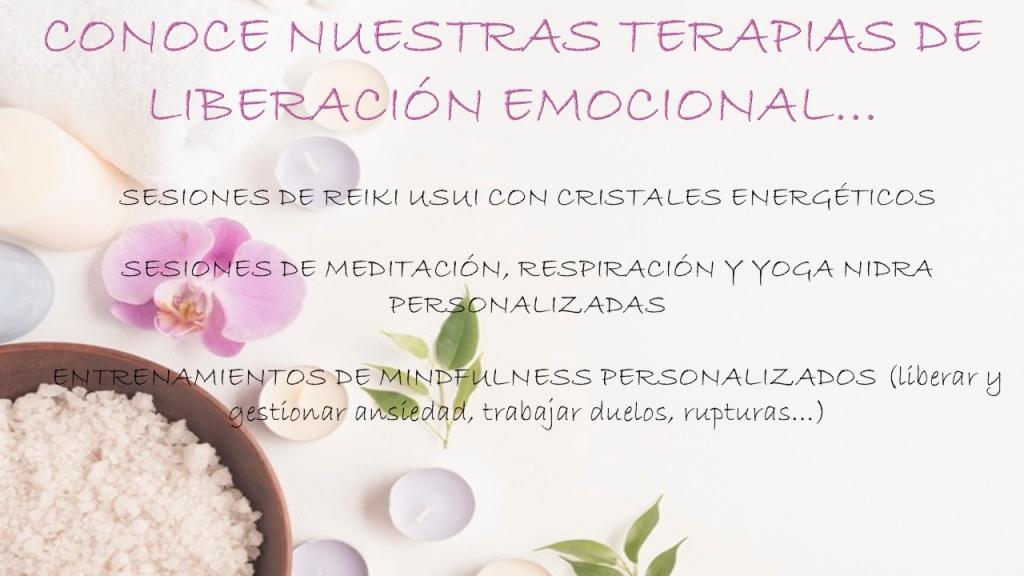 Sesiones de Terapias de liberación emocional