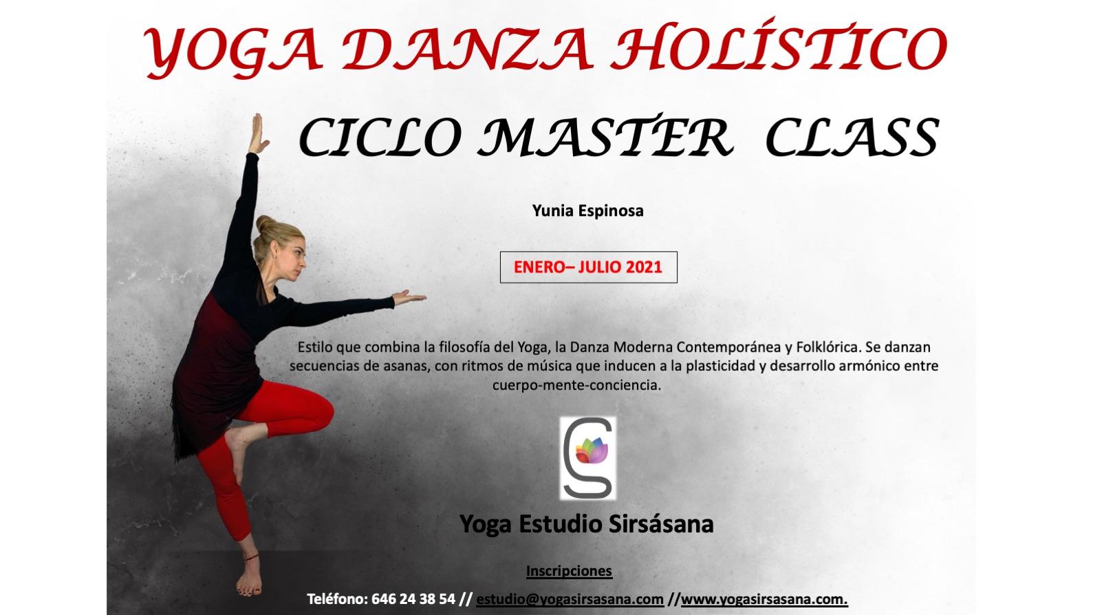 Master class Yoga danza holística con Yunia Espinosa